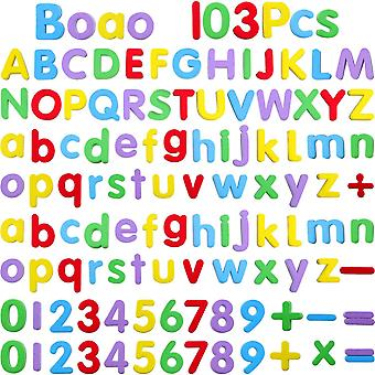 Boao foam magnetic letters and numbers for kids 103 pieces alphabet refrigerator magnets for learnin