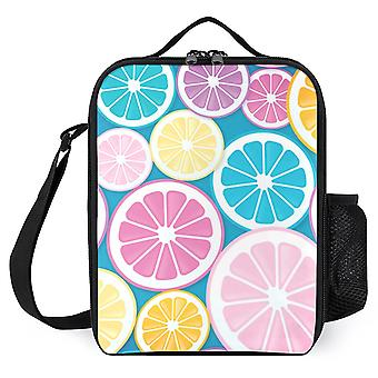 Citrus Slices Pattern Printed Lunch Bags