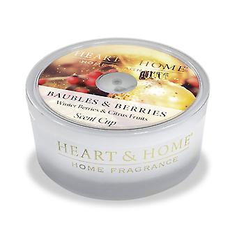 Heart & Home Glass Scent Cups Baubles And Berries