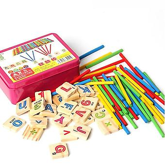 Wooden Mathematics Numbers Sticks For Early Education