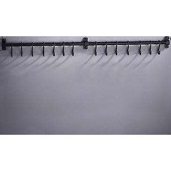 Wall Mounted Space Aluminum Pantry Holder, Single Bar