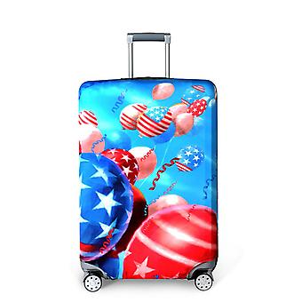 Colorful Parachutes Spandex Travel Luggage Cover