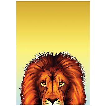 Inquisitive Creatures Lion Poster