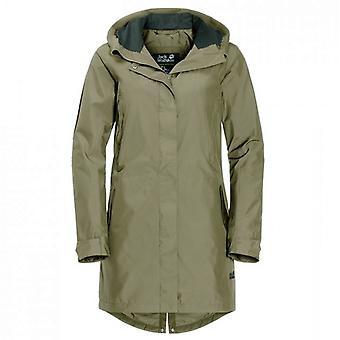 Jack Wolfskin Monterey Coat Kvinders Hætteklædte Lang Jakke 1110261 4288