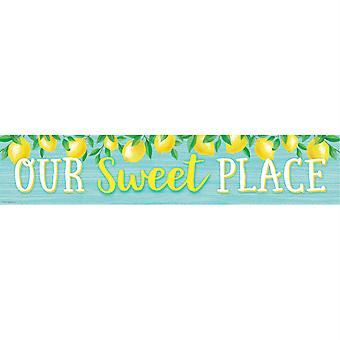 """Lemon Zest Our Sweet Place Banner, 8"""" X 39"""""""