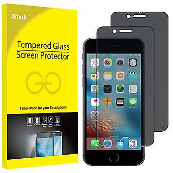Jetech privacy screen protector for iphone 6s and iphone 6, anti-spy tempered glass film, 2-pack