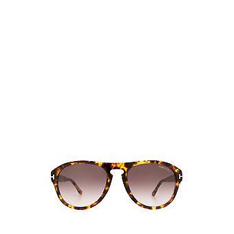 Tom Ford FT0677 light havana unisex sunglasses
