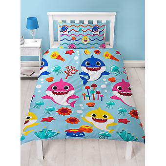 Baby Shark Rainbow Single Duvet Cover Set