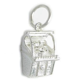 Jukebox Sterling Silber Charm .925 X 1 Juke Box Musik Charms - 4409