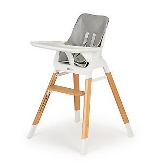 Cadeira de jantar de madeira - cadeira branca - 57x70x95 cm