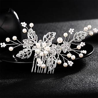Wedding Crystal Peals Hair Combs-bridal Hair Clips, Accessories,  Handmade