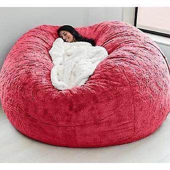 Couverture douce de sofa de sac de haricot, meubles de salle de vie, grand rond géant de loisirs de partie