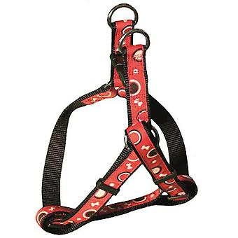 Arquivet Harness Nylon Bones Red (Dogs , Collars, Leads and Harnesses , Harnesses)