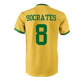 Sócrates 8 Brasil país Ringer t-shirt