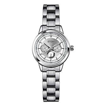 SINOBI 9285 Elegant Kvinder Armbåndsur Sølv sag rustfrit stål Rem Kvarts