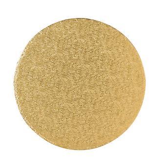 """14"""" (355mm) Cake Board Round Gold Fern - sencillo"""
