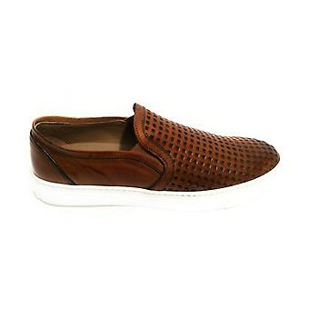 Men's Shoes Slipon Yox By Nicola Barbato In Lasered Leather Dived Col. Leather Us18nb05