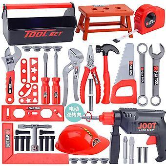 Kit de boîte à outils Educational Simulation Repair Drill Plastic Game Kids