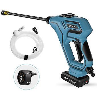 Cordless High Pressure Washer, WESCO 18V 2.0Ah Home/Car Cleaner, Portable Water Gun, 6M Hose
