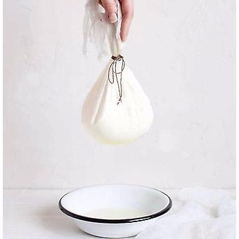 Valkoinen puuvillaharso musliinijuustoliina (norsunluu)