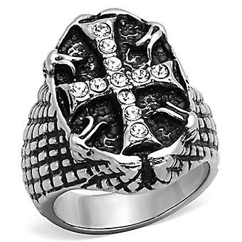 Pánské prsteny ze syntetických krystalů z nerezové oceli Tk1351