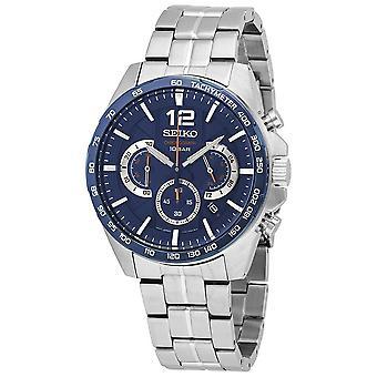 Seiko Chronograph Quartz Blue Dial Men's Watch SSB345