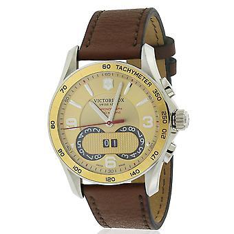 Swiss Army Victorinox Chronograph Leather Mens Watch 241617