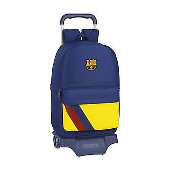 School Rucksack with Wheels 905 F.C. Barcelona Blue