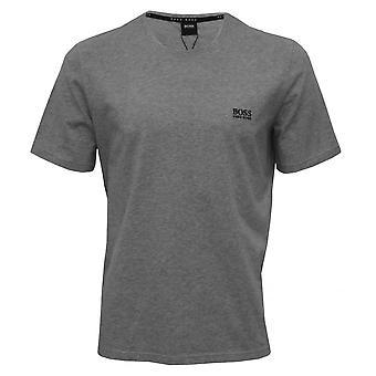 BOSS Luxe Jersey camiseta de cuello redondo, gris brezo