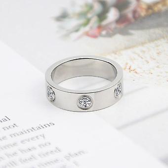 Luxury Shiny Rotating Circle Crystal Ring