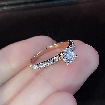 New Trendy Crystal Engagement Design Rings