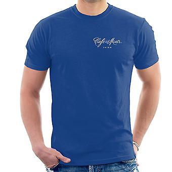Cafe del Mar Classic White Logo Pocket Print Men's T-Shirt