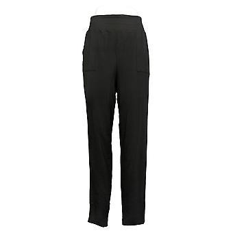 Anybody Women's Pants Cozy Knit Jersey Foldover Jogger Black A388558