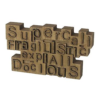 Supercalifragi Wooden Block Sign By Heaven Sends
