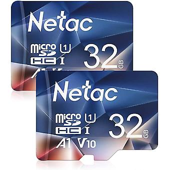 FengChun 2er-Pack 32G SpeicherkarteŒMicro SD Karte(A1, U1, C10, V10, FHD, 600X), TF-Speicherkarte