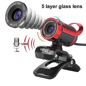 كاميرا ويب سطح المكتب USB ويب كام بنيت في الصوت استيعاب ميكروفون فيديو المكالمات كاميرات (480p)
