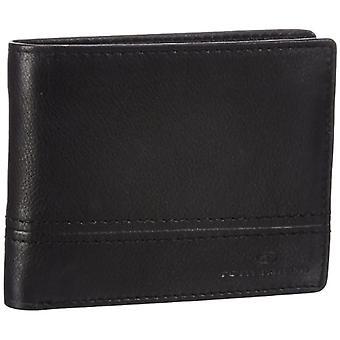 Tom Tailor Men's Wallet Jerrie, 10 x 1 x 12.5 cm, Real Skin, Black (Black 60), 10x12x1 cm (B x H x T)