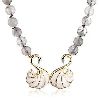 MISIS Women-Necklace Mirabilia Silver 925 Zirconi Bianchi Agata Enamel 47 cm - CA07777GR