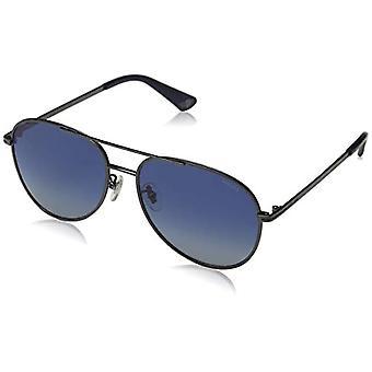 Polizeichef 1 Sonnenbrille, Grau (Shiny Gun Metal/Blue), 58,0 Herren
