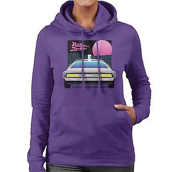 Back to the Future Delorean Sunset Women's Hooded Sweatshirt