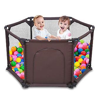 Spielgitter für Kinder,Baby Laufgitter faltbarer 6-Panel-Laufstall Tragbar Waschbar mit