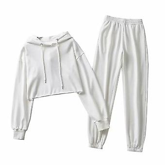 Ženy Príležitostné Loose Crop Top a športové nohavice Activewear