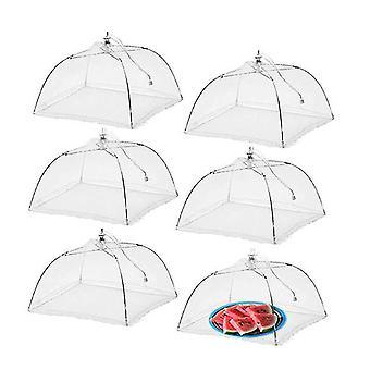 2pcs Mesh Couvertures alimentaires Tente Parapluie pour les fêtes Pique-niques, Barbecues