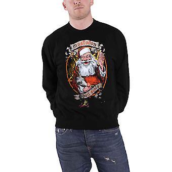 Mastodon Mens Sweatshirt Black Hail Santa Christmas Holidays Logo Official