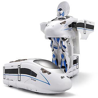 Remote Control Rc Robot Train Voice Control, Toy Model, One Key Deformation
