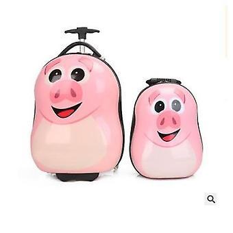 Kid's Rolling Suitcase Luggage Set