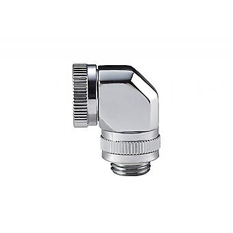 Phanteks 12mm Hårdrör Roterande Montering 90 G1/4 Spegel Krom