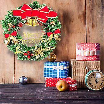 Wreath Small Bells Door Wall Party Decoration Party Poinsettia Small Bell