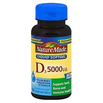 Nature Made Vitamin D, 5000 IU, 90 Tabs