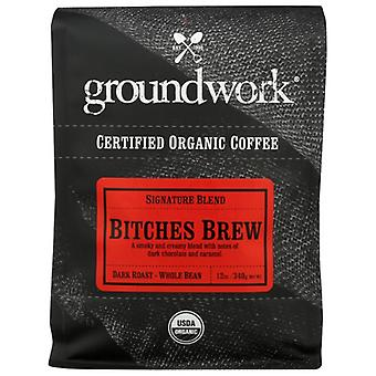 Groundwork Coffee Coffee Bitches Brew Org, Case of 6 X 12 Oz